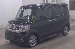 中古車N-BOX黒横